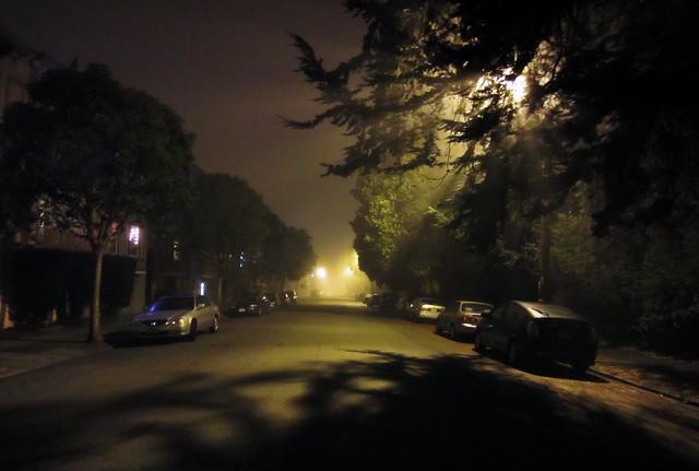 fog in the richmond; san francisco