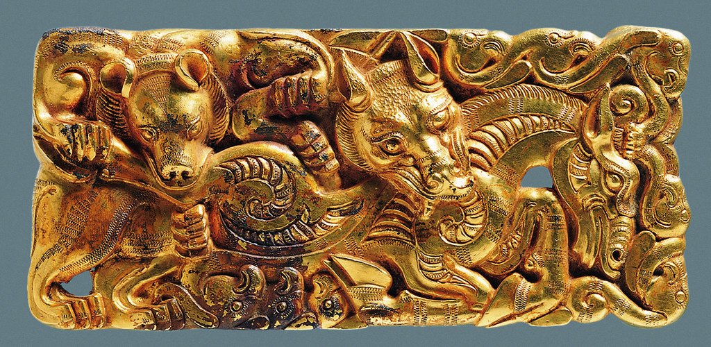 1  Han China - Gold belt plaque.jpg