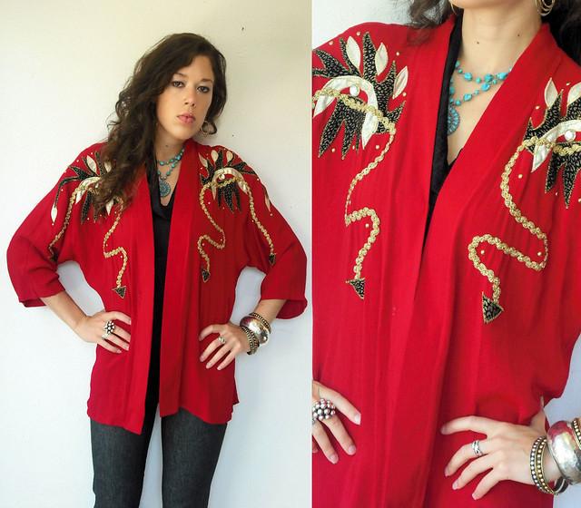 red southwestern jacket