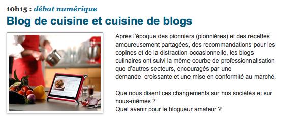 Blog de cuisine et cuisine de blog
