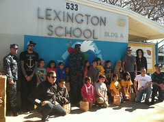 LCSRON Sailors & Angels and Airwaves with Lexington Elementary students