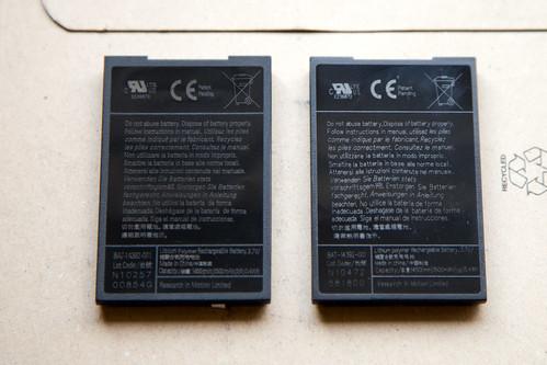 BlackBerry Akku: Original und Fälschung