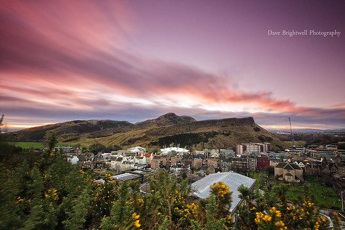 Arthurs Seat Sunrise by Dave Brightwell