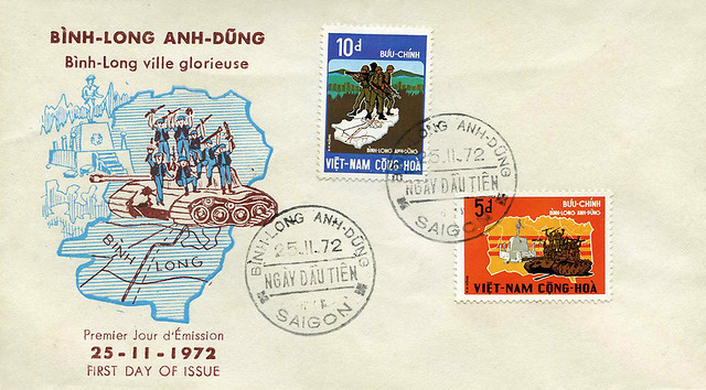 Vietnam War - Victory at Binh-Long - 1972 - FDC
