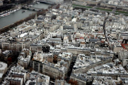 View from top of Eiffel Tower