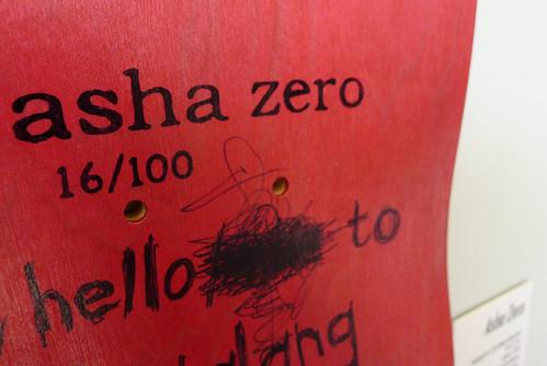 ASHA ZERO SKATEBOARD DECK 16/100