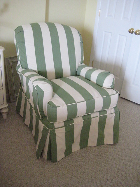 club chair cover on Club Chair Slipcover In Calypso Stripe From Slipcover Fabrics Com