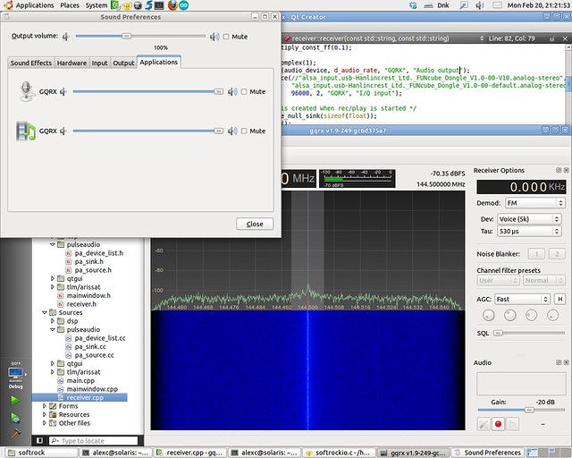 Pulseaudio input/output in GQRX