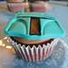 Primer plano Cupcake de Boba Fett