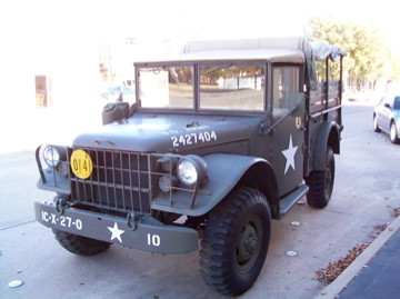 A vintage military vehicle outside the 12th Armored Division Memorial Museum in Abilene, Texas. (Photo by Lisa Maloney)