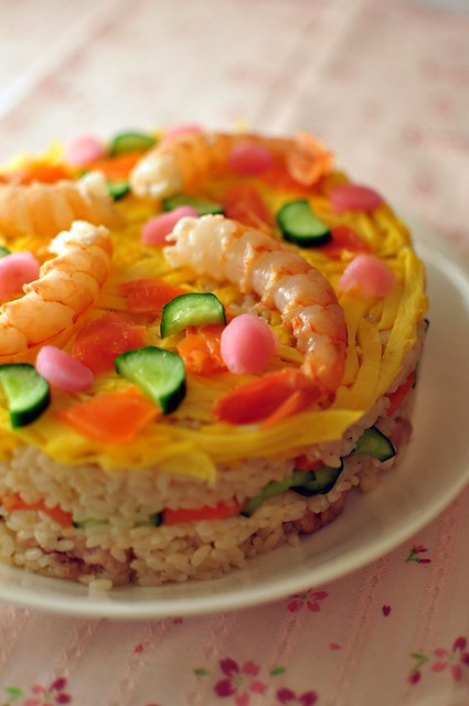 Yuppi's sushi cake