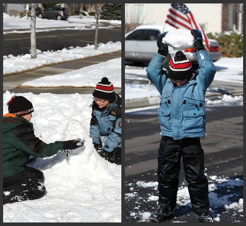 Boys Snow Collage