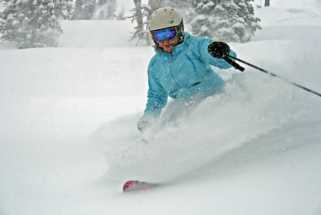 powder at Brundage Mountain