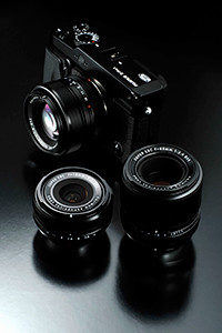 Three prime lenses have been launched together with the X-Pro1.
