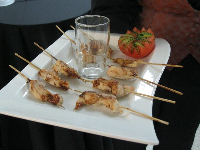 Chicken on a stick for Trustees in Art Gallery | Explore Get ...