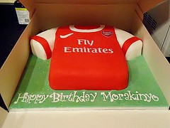 Arsenal Shirt Cake