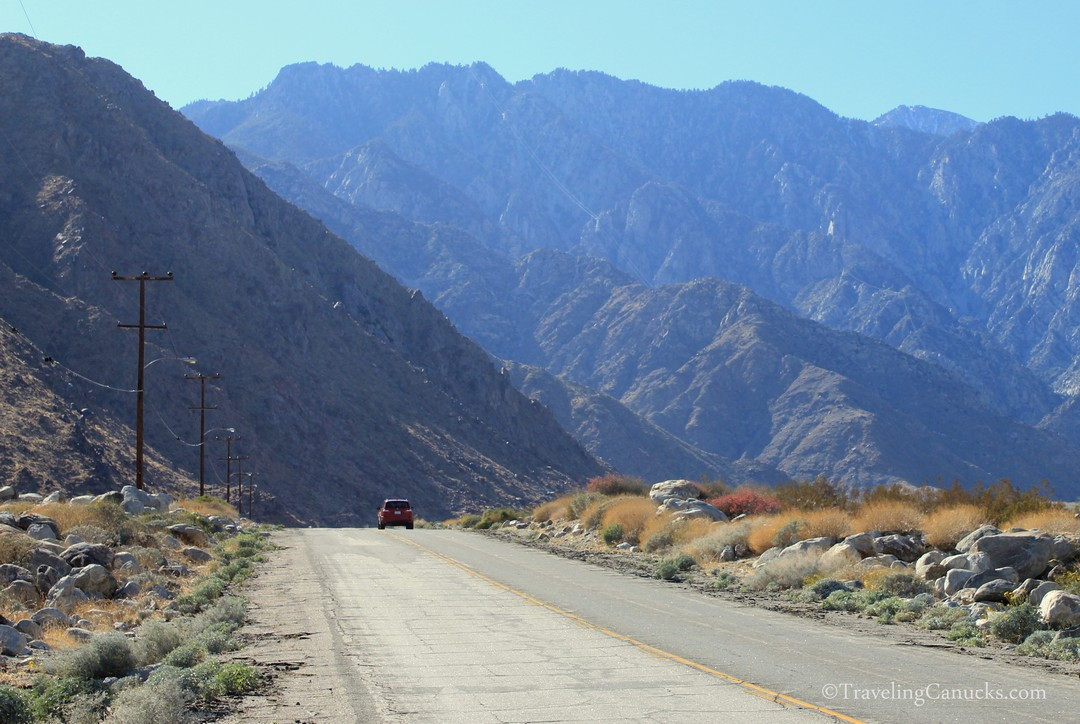 Rugged desert mountains in Palm Springs