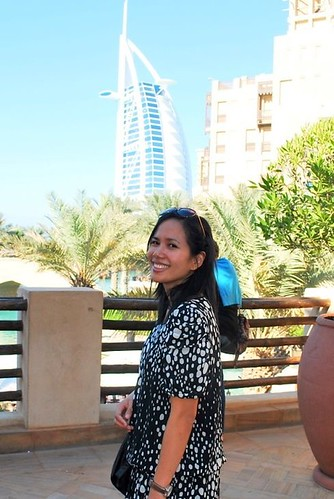 Souk Madinat with Burj Al Arab as background