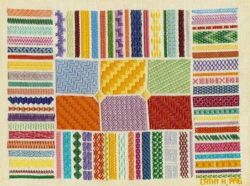 Needlepoint Stitch Sampler - 1996