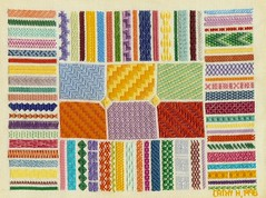 Needlepoint Stitch Sampler - 1996