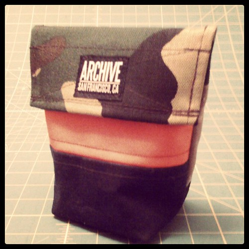 camo-orange-navy wax-black-sage wax-red by Archive Victor