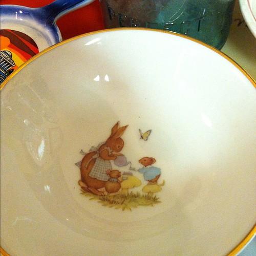 Bunny dish.
