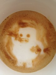 Today's latte, the Git creature.