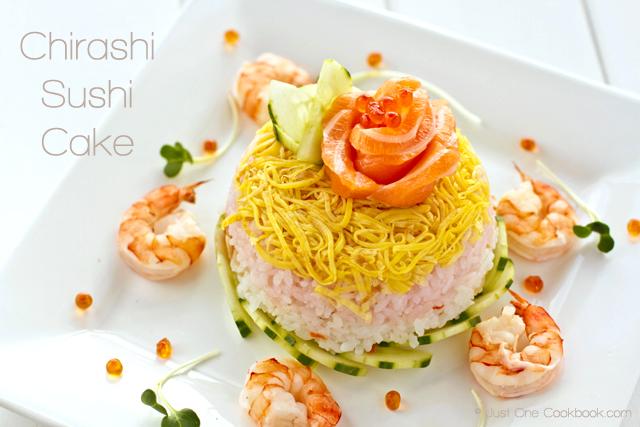Chirashi Sushi Cake for 6bittersweets