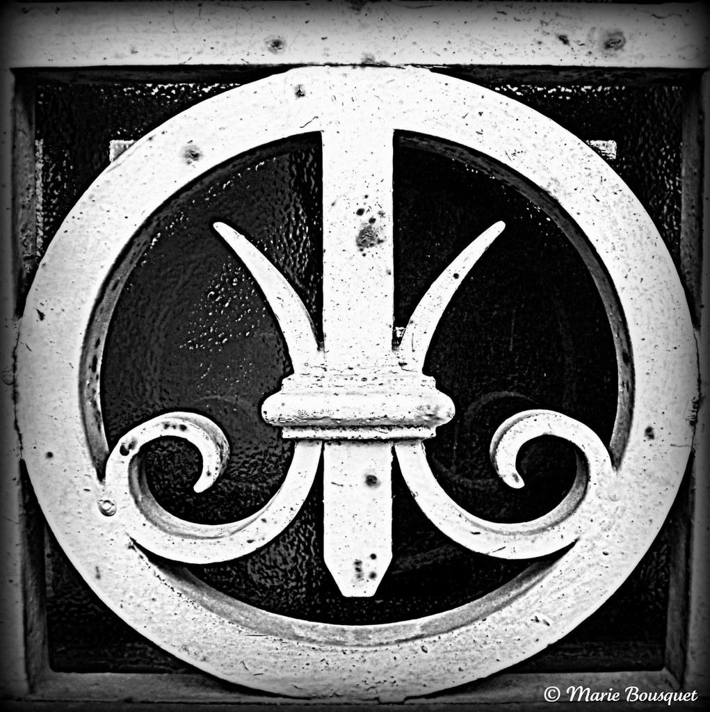 Carreau de porte vitr e orn d 39 une pi ce en fer forg flickr - Carreau porte vitree ...