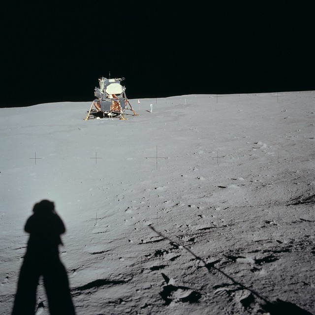 Apollo 11 Mission image - Lunar Module at Tranquility Base ...