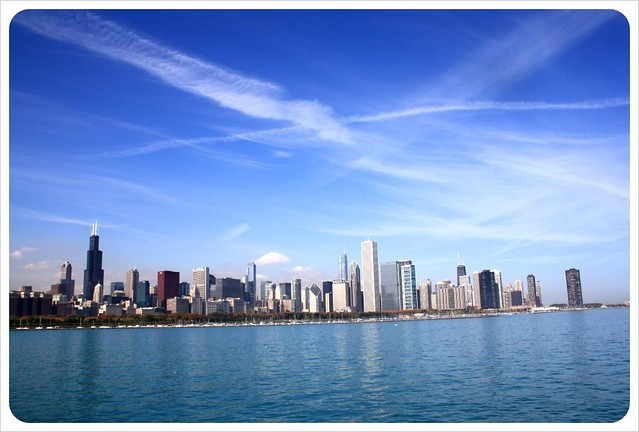 chicago skyline & lake michigan