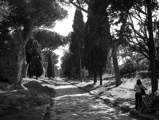 Roman road on Appian Way