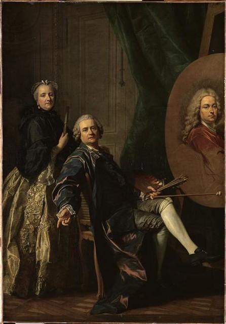 Louis-Michel Van Loo, <i>Louis-Michel Van Loo accompagné de sa sœur Marie-Anne et travaillant au portrait de son père Jean-Baptiste Van Loo</i>