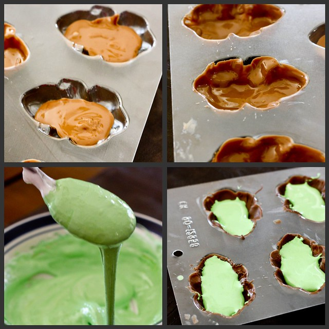 how to make chocolate candy molds with different colors