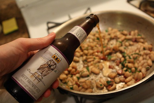 Cannellini Beans with Rendered Bacon, Brown Ale, and Parsley