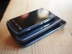 Nokia 700, iPhone 4 (with bumper), Galaxy Nexus