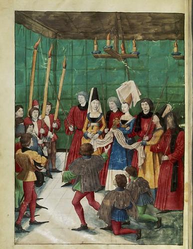 022-Le libre des tournois…1460- René d' Anjou--Français 2692, fol. 70v-Entrega del premio al vencedor