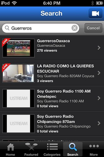 Ustream Guerreros TV en VIvo 03.2012