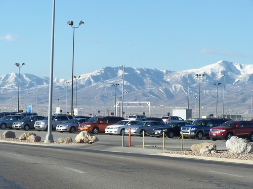 Mountains surround Salt Lake City