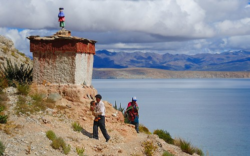 Showing Buddhism, to his newborn at the Gotsuk Monastery, Tibet by reurinkjan