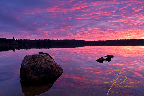 usa reflection clouds sunrise landscape fire rocks newhampshire uni farmington baxterlake