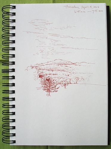 Cirrostratus over Pelham Hills 041912