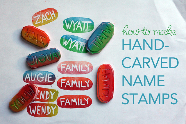 Hand Carved Name Stamp