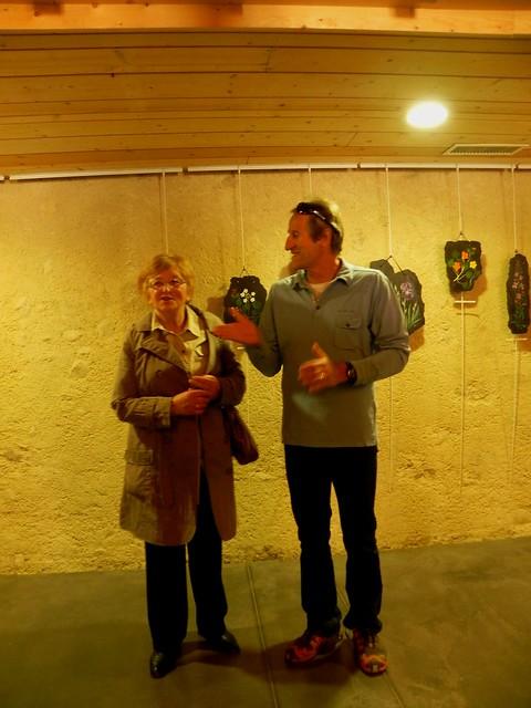 Inauguration exposition Jacqueline à la Maison du Salève