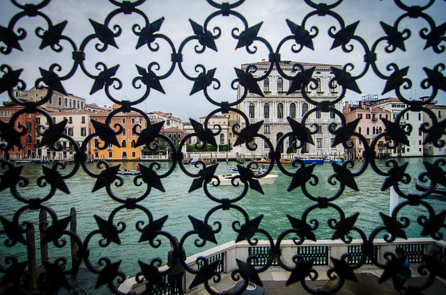 The view of the Grand Canal at Venice's Peggy Guggenheim Collection.