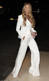 Elle Macpherson White Trousers Celebrity Style Women's Fashion