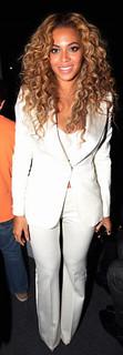 Beyonce White Trousers Celebrity Style Women's Fashion