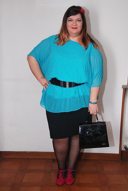 Plus size outfit day: all about shoes and accessories