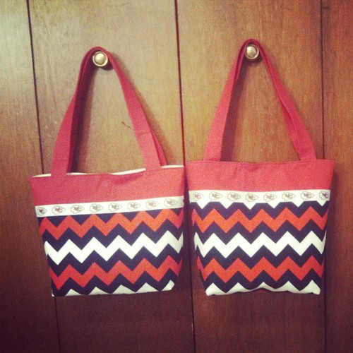 2 KC Chiefs purses $35 each $6 shipping each!
