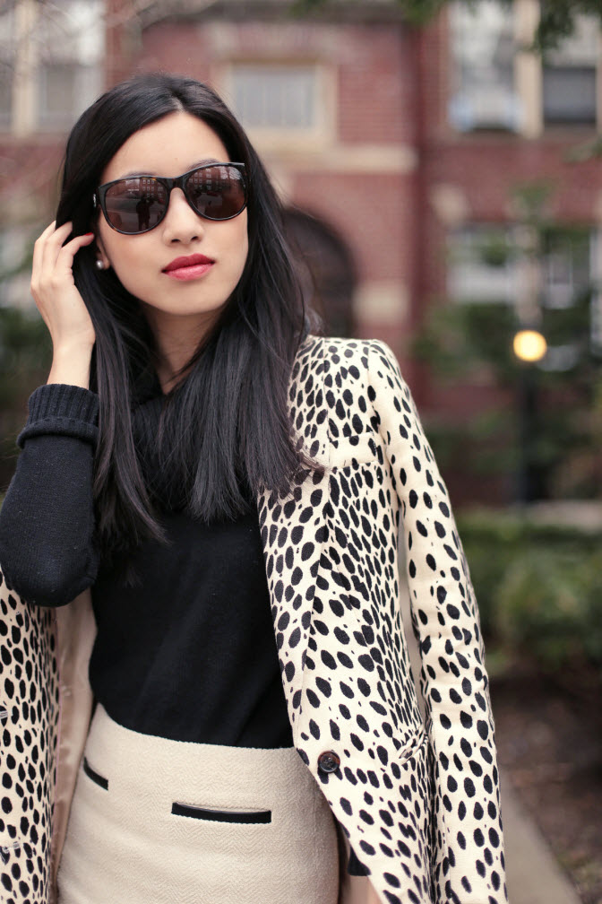 leopard coat red bag4
